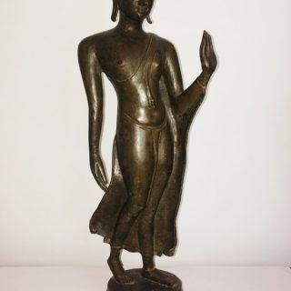 Walking Buddha (Thailand)), bronze, 62 x 20cm