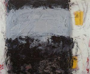 Visitor, acrylic & mixed media on canvas, 50 x 60cm