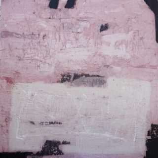 Wall in pink, acrylic & mixed media on canvas, 60 x 60cm