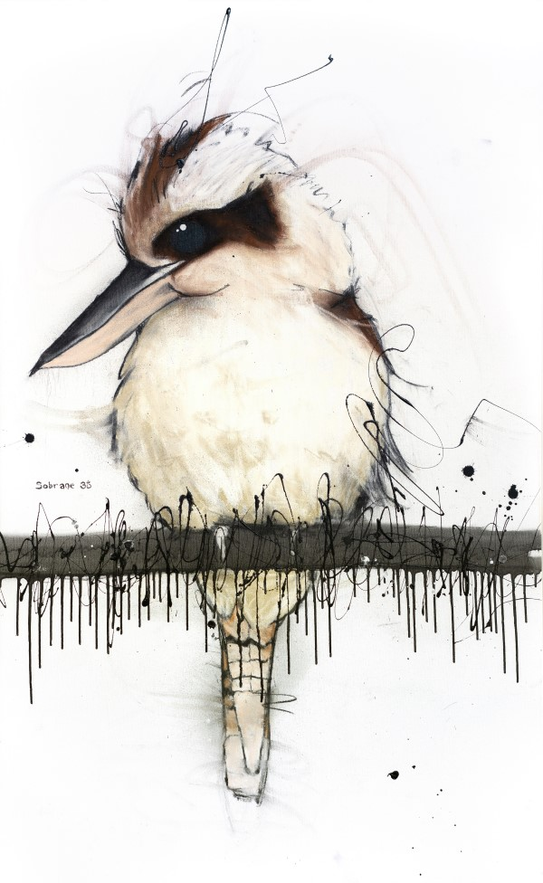 Kookaburra II, mixed media on canvas, 127 x 78cm