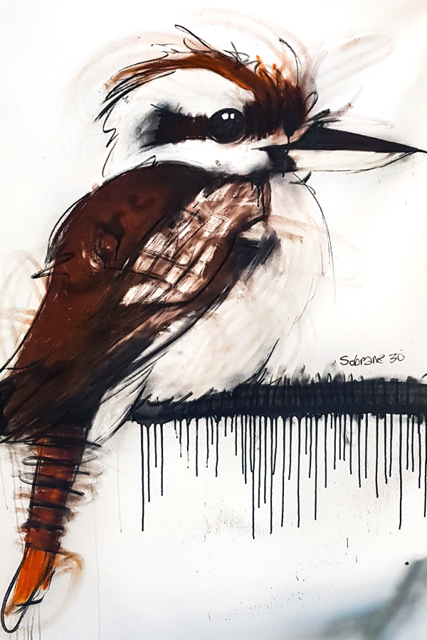Kookaburra I, mixed media on canvas, 120 x 87cm