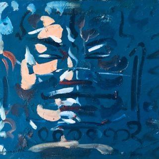 Face of bayon, acrylic on canvas, 70 x 90cm