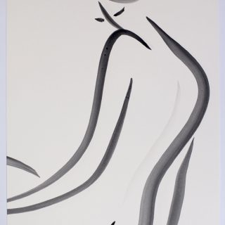 Untitled 2 Nude Series, gouache on paper, 38 x 28cm