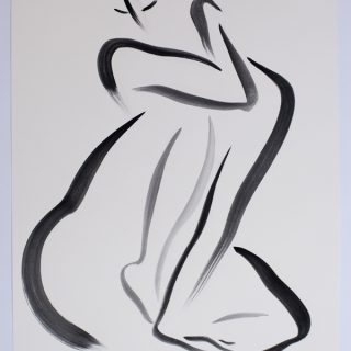Untitled 3 Nude Series, gouache on paper, 38 x 28cm