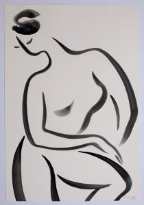 Untitled 4 nude series, gouache on paper, 38 x 28cm