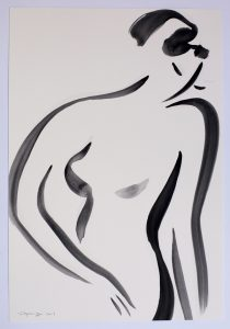 Untitled 5 nude series, gouache on paper, 38 x 28cm