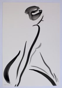 Untitled 6 nude series, gouache on paper, 38 x 28cm