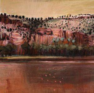 Coppermine creek, somewhere on the savannah way, pastel on paper 60 x 60cm