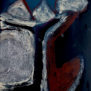 Inside Out #16, acrylic on x-ray film, 56 x 48cm (incl frame)