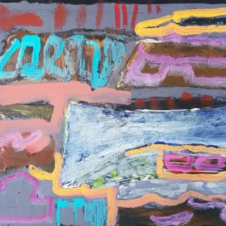 Inside Out #25 acrylic on x-ray film, 48 x 56cm (incl frame)