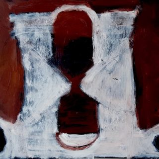 Inside out #6, acrylic on x ray film, 48 x 56cm (incl frame)