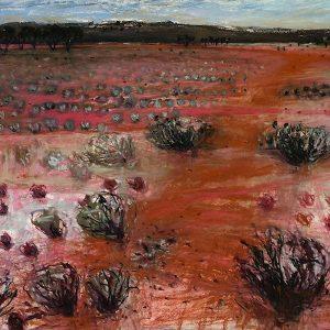 Leaving lake mungo, pastel on paper, 50 x 50cm