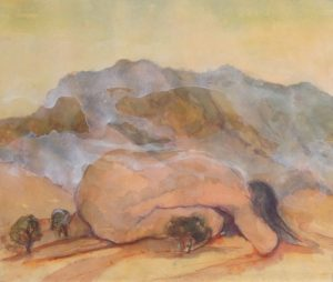 Meditation, watercolour on paper, 30 x 40cm2
