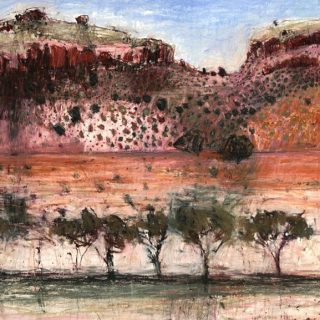 On Riversleigh Road, After Boodjamulla, pastel on paper, 60 x 60cm