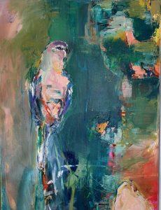 Bourke parrot, oil on linen, 79 x 58cm