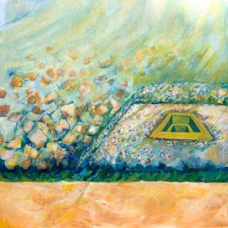Edges - Kurringai, acrylic on canvas, 61 x 61cm