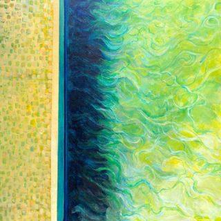 Edges - Ocean Pool, acrylic on canvas, 61 x 61cm