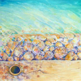 Edges - Round at Illawong, acrylic on canvas, 61 x 61cm
