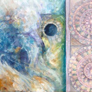 Edges - Sacred Spring, acrylic on canvas, 61 x 61cm