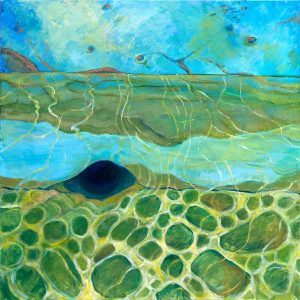 Edges to the ocean, acrylic on canvas, 61 x 61cm copy