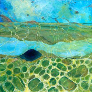 Edges - To The Ocean, acrylic on canvas, 61 x 61cm
