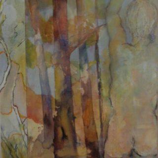 Flood, watercolour on paper, 89 x 70cm (incl frame)