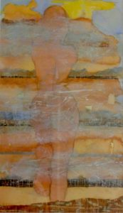 Horizon, mixed media on paper, 65 x 44cm (incl frame)