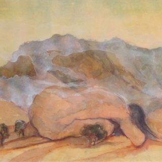 Longing, watercolour on paper, 30 x 40cm