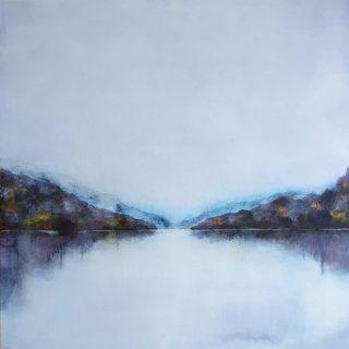 Morning Mist, mixed media on linen, 61 x 61cm