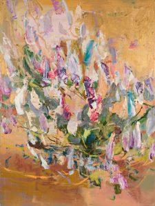 Mulla mulla i, oil and oil stick on linen, 104 x 78cm