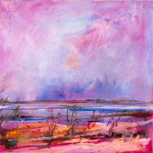 Once i was menindee lakes 1, oil on linen, 61 x 61cm