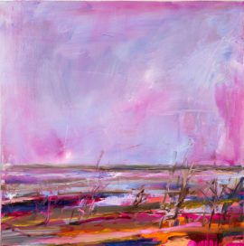 Once I was Menindee Lakes 2, oil on linen, 61 x 61cm