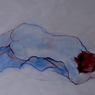 Repose, pastel on paper, 57 x 74cm (incl mount)