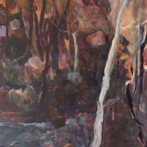 Secrets among friends, acrylic on canvas, 61 x 61cm