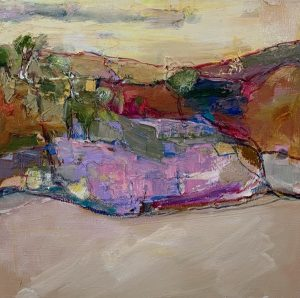 Spring gully i, oil on linen, 35 x 35cm