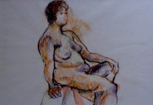 Sweetie, pastel on paper, 74 x 57cm (incl mount)
