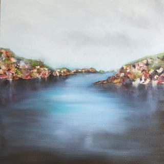Tinkers Hole, mixed media on canvas, 61 x 61cm