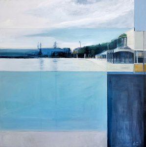 Watsons bay, oil on canvas, 110 x 110cm