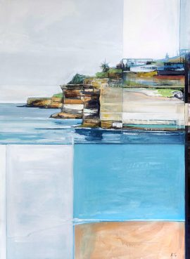 Bondi to Bronte, acrylic on canvas, 153 x 113cm (incl frame)