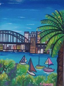 Lavendar bay, acrylic on canvas, 30 x 40cm