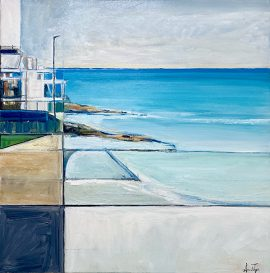 North Bondi Light, oil on poly cotton, 63 x 63cm (incl frame)