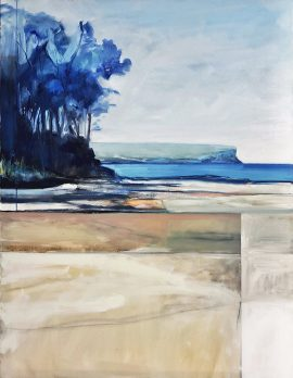 North Head, oil on poly cotton, 112 x 87cm (incl frame)