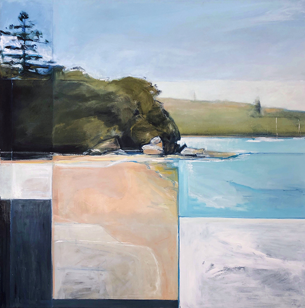 Shark Bay Neilsons Park, oil on polycotton, 110 x 110cm