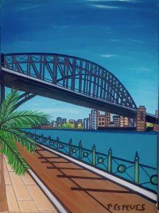 The grand walk, acrylic on canvas, 30 x 40 cm