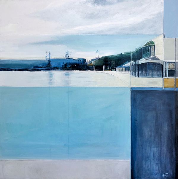 Watsons bay, oil on canvas, 110 x 110cm