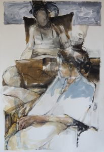 In a silent way 3, mixed media on paper, 78 x 53cm