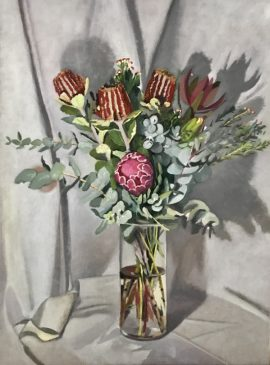 Flora Abunda 2 & Banksia, oil on linen, 80 x 60cm