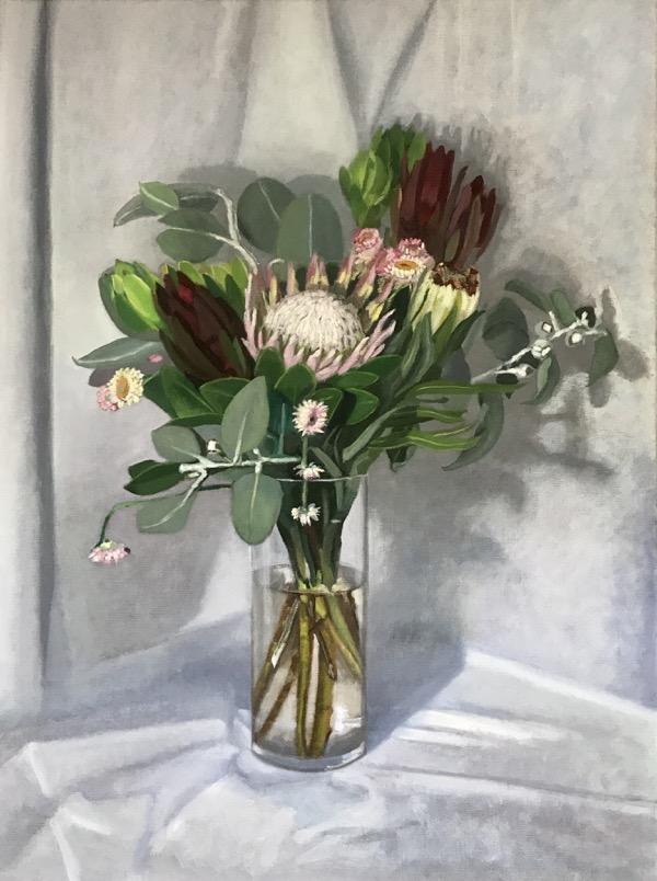 Flora abunda, oil on linen, 80 x 60cm