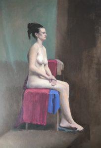 Lulu, oil on canvas, 69 x 49cm (incl frame)